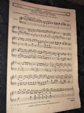 ANTIQUE ORIGINAL SHEET MUSIC MARCH ~ TANNHAUSER WAGNER HAIL GIFT OF SONG CURWEN